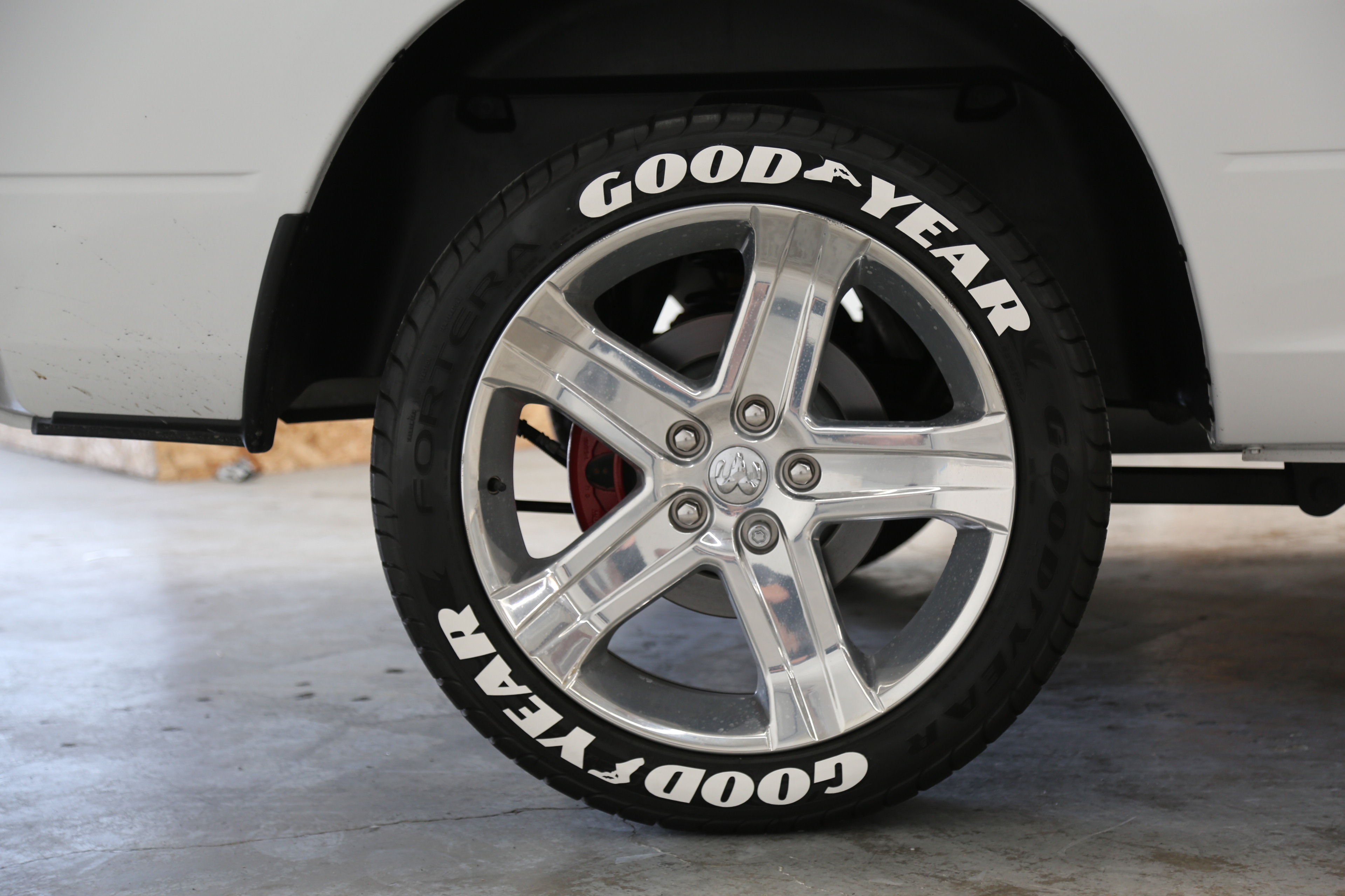 Officially licensed goodyear eagle f1 lettering tire for How to blackout white letter tires